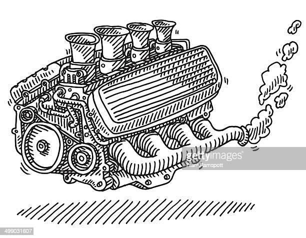 Dibujo de motor de coche