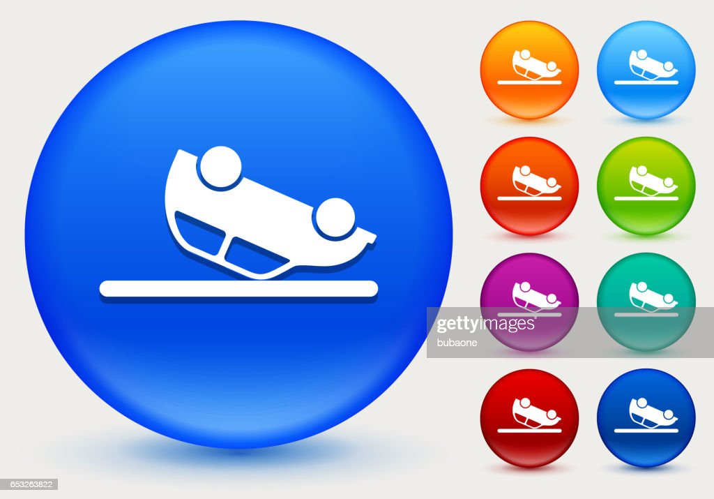 Car Flipped Upside Down Icon on Shiny Color Circle Buttons : Clipart vectoriel