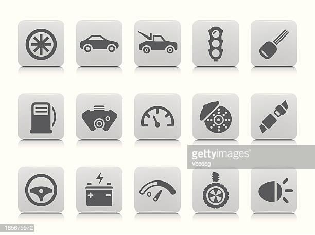 Conjunto de iconos de coche