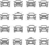 Vector set of different car symbols