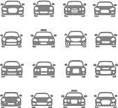 Vector set of different car symbols