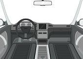 Passenger compartment. Vector illustration.