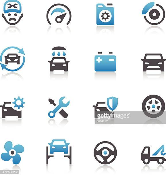 Car Maintenance Service Icons