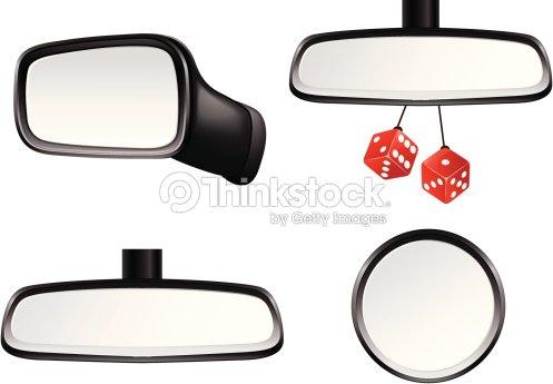 car mirror set vector art thinkstock. Black Bedroom Furniture Sets. Home Design Ideas