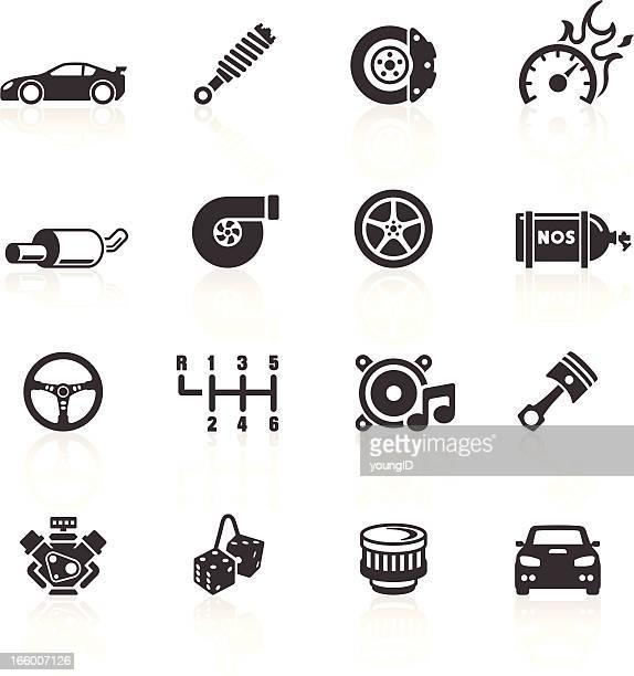 Iconos de auto partes &