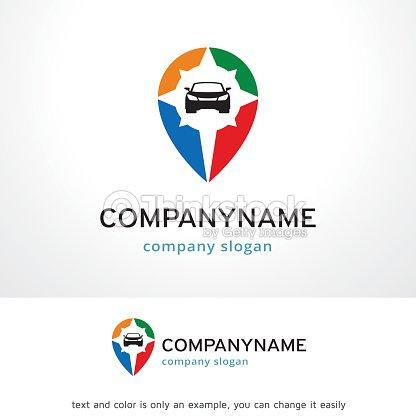 Car Point Symbol Template Design Vector Emblem Concept Creative Icon