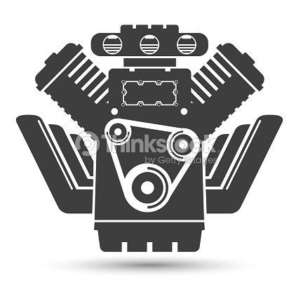 Car Powerful Engine Black Symbol Vector Art Thinkstock