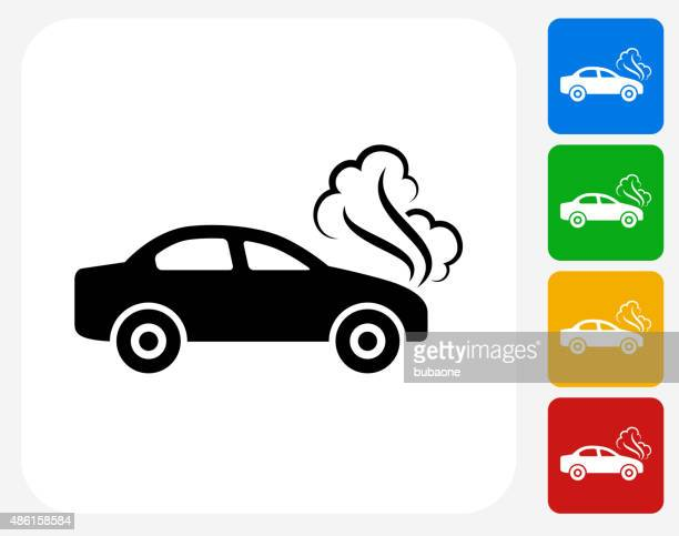 Car Problem Icon Flat Graphic Design