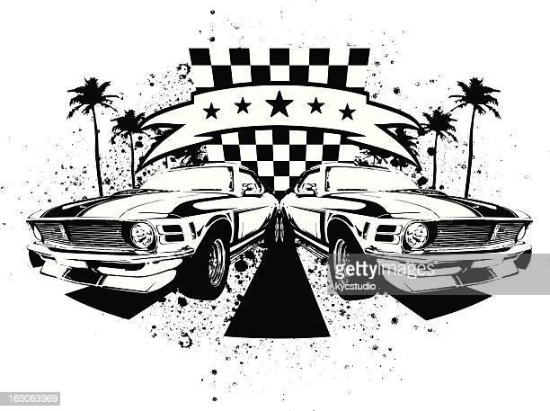 hot rod car stock illustrations and cartoons