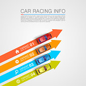 Car racing info art cover. Vector Illustration