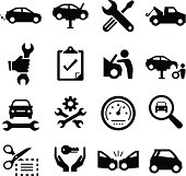 Auto repair icons. Professional clip art for your print or Web project. See more in this series.