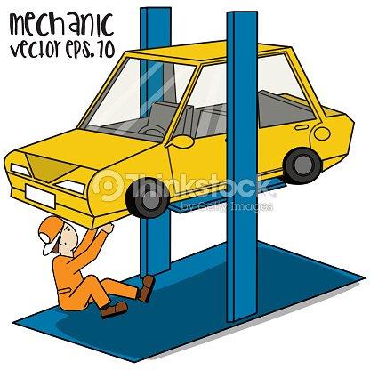 car repair lift template vector art thinkstock