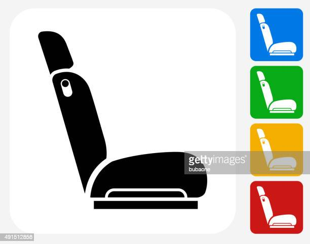 Car Seat Icon Flat Graphic Design