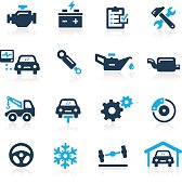Signalization car services icons for your Web or print projects.