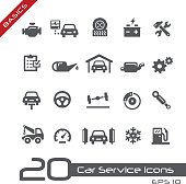 Car services vector icons for your website and promotions.