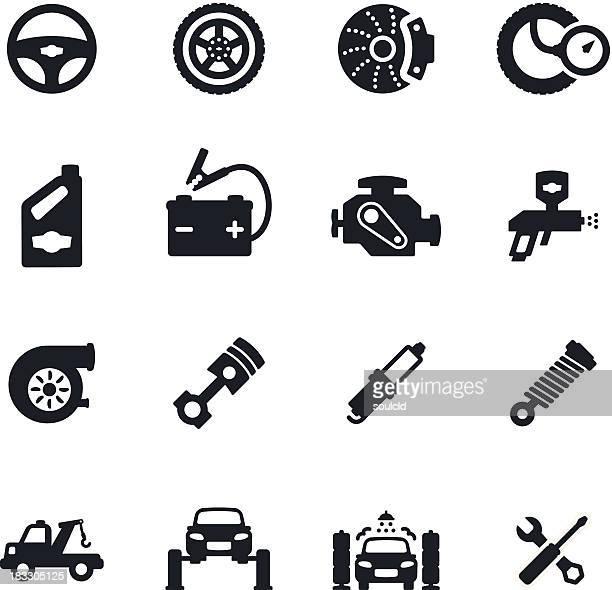 Auto servicio los iconos