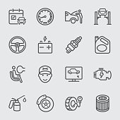 Car services, Maintenance and Repair line icon