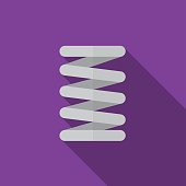 Car spring flat icon illustration isolated vector sign symbol