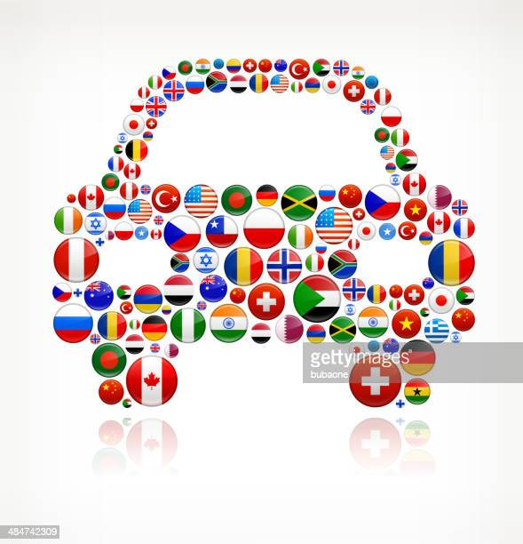 Car World Flags royalty free graphic