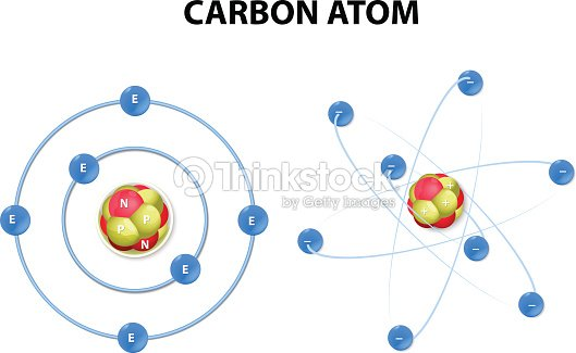 Carbon atom on white background structure vector art thinkstock carbon atom on white background structure vector art ccuart Images