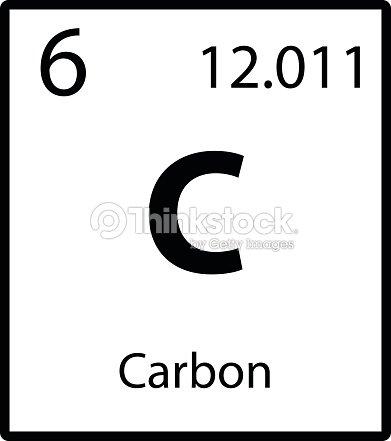 Carbono tabla periodica elemento en icono de vector de fondo blanco carbono tabla periodica elemento en icono de vector de fondo blanco arte vectorial urtaz Images