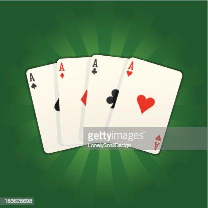 card aces rays : Vector Art