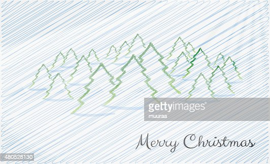 card, merry christmas : Vectorkunst
