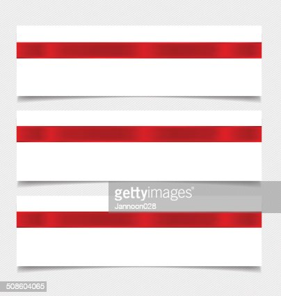 Card note with ribbons. Vector illustration. : Vector Art