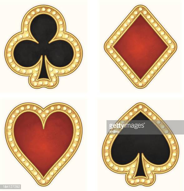 Card symbols - hearts, clubs, spades and diamonds icons