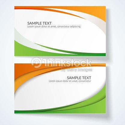 Carte Avec Des Lignes Ondulees Abstraites Orange Et Vert Rayures Element Creatif Pour La Conception De Modeles Cartes Postales Annonces Poster Decoratif