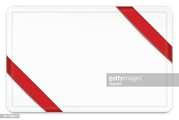 Card with ribbons