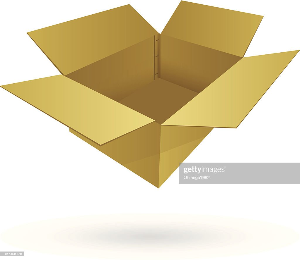 Cardboard Box Vector Illustration. : Vector Art