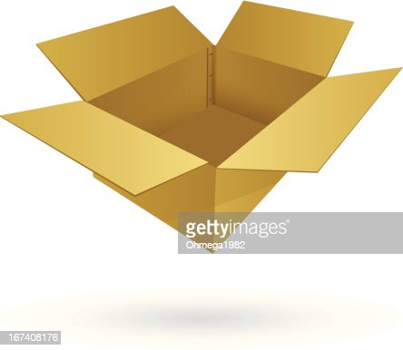 Cardboard Box Vector Illustration. : Vektorgrafik