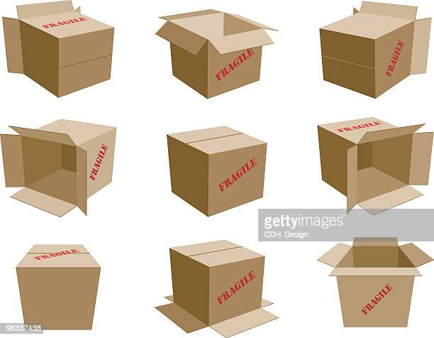Cardboard Boxes ~ Vector