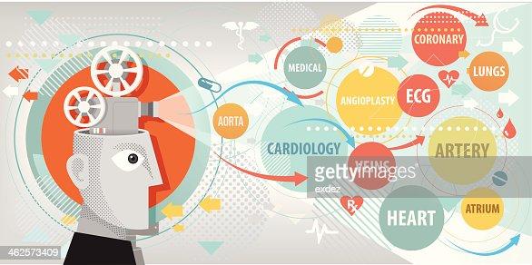 Cardiologia Projecção : Arte vetorial