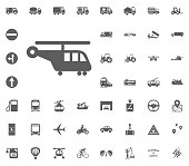 Cargo helicopter icon. Transport and Logistics set icons. Transportation set icons.