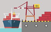 graphic of cargo port