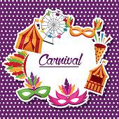 carnival fair celebration festive image vector illustration