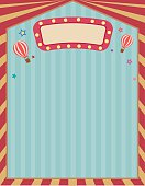 Vector the circus ccarnival template retro vintage frame for poster.Blank space for text.