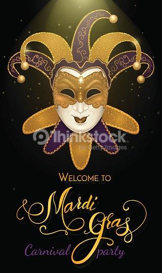 Mascara De Carnaval Con Textura Brillante Brillo Bokeh Fondo De