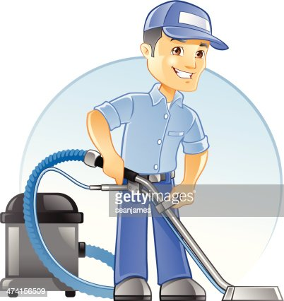 Carpet Cleaning Professional With Vacuum Vector Art | Getty Images
