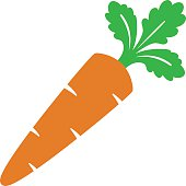 Vector illustration of a cartoon carrot icon
