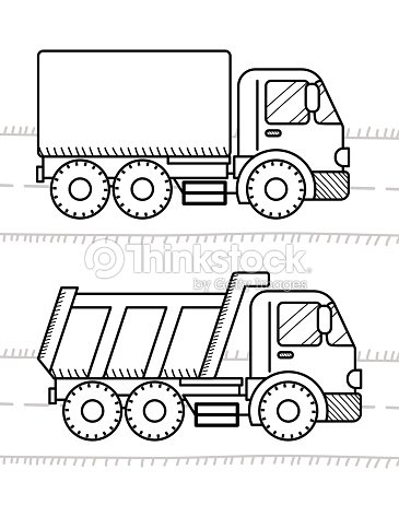Cars And Vehicles Coloring Book For Kids Dump Truck Truck Vector Art ...