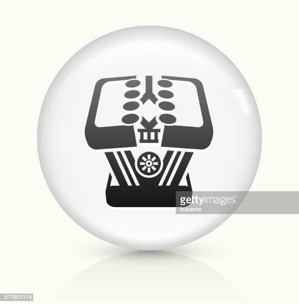 Vehículo de motor icono sobre blanco, Vector de redondo botón