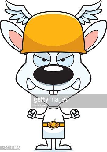 Cartoon Angry Hermes Bunny Vector Art | Thinkstock