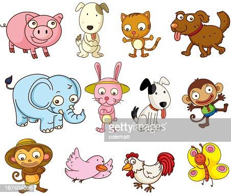 Cartoon Tiere : Vektorgrafik
