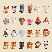 cartoon animals icon