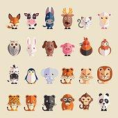 cartoon animals icon