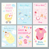cute cartoon baby shower for your concept