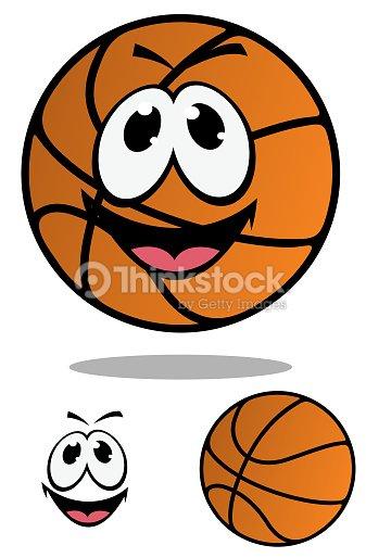 mulher de mascote de desenho de bola de basquete arte vetorial